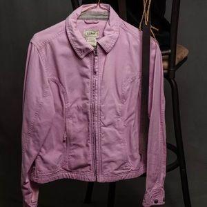 LL Bean Pink Jacket Canvas Lightweight Women's S